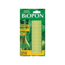 Pałeczki nawozowe do roślin zielonych BIOPON 30 szt.